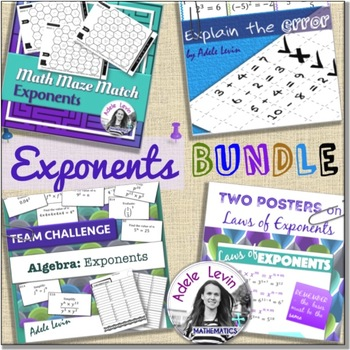Exponents ** BUNDLE **