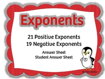 Exponents  {40 Task Cards}