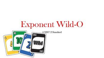 Exponents (5.NBT.2) Wild-O