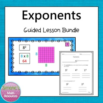 Exponents Guided Lesson 6.EE.1