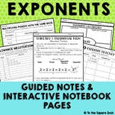 Exponents Notes and Activities