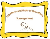 Exponents and Order of Operations Basics Scavenger Hunt