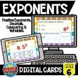 Exponents Boom Card Bundle {Digital Cards}
