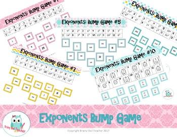 Exponents Bump Game