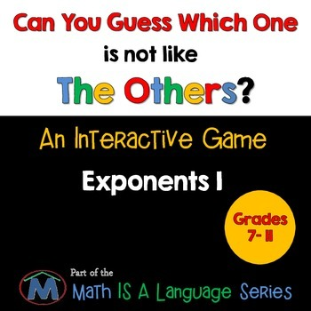 Exponents - Can you guess which one? Game I