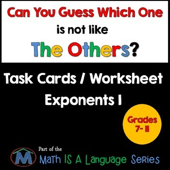 Exponents I - Can you guess which one? - print version