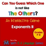 Exponents - Can you guess which one? game II