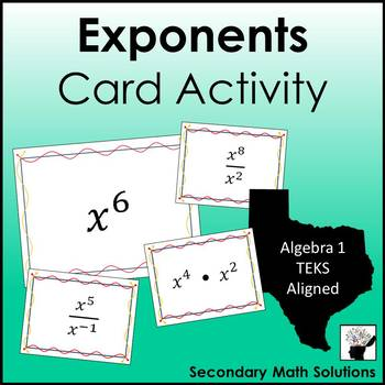 Exponents (All Laws) Activity (A11B)