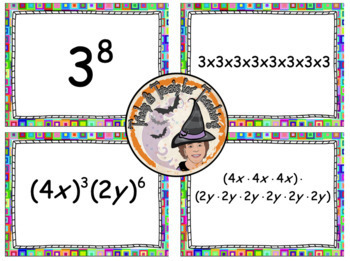 Exponents Card Match Activity