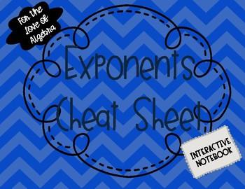 "Exponents ""Cheat Sheet"""