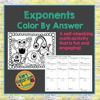 Exponents Color By Answer