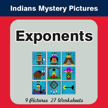 Exponents - Color-By-Number Mystery Pictures