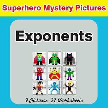 Exponents - Color-By-Number Math Mystery Pictures