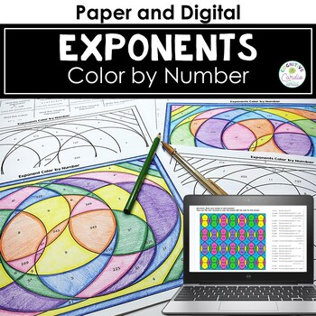 Exponents Color By Number