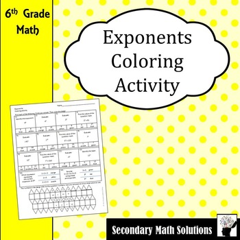 Exponents Coloring Activity