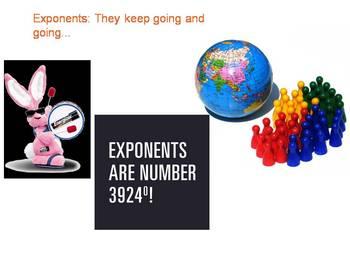 Exponents Real World Notes
