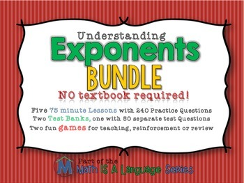 Exponents - Complete Unit Bundle