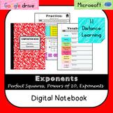 Exponents Digital Interactive Notebook (VA SOL 6.4)-Distan