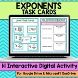Exponents Digital Task Cards
