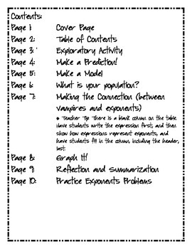 Exponents Discovery Mini-Unit