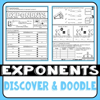 Exponents Doodle Notes