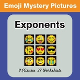 Exponents EMOJI Mystery Pictures