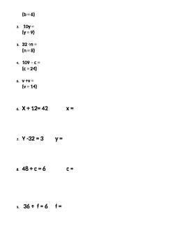 Exponents, Equations and Order of Operation