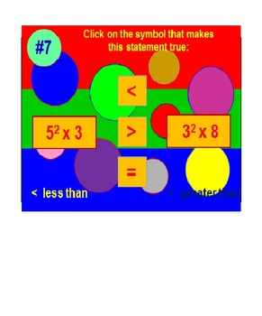 Exponents FREE Powerpoint Preview Fun Quiz