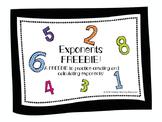 Exponents FREEBIE!