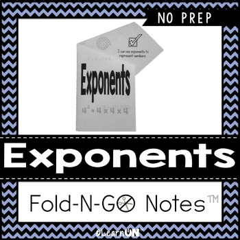 Exponents Fold-N-Go Notes™