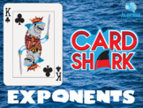 Exponents Fun Review Game - Card Shark