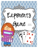 Exponents Game {Dice or Card Game Versions}