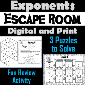 Exponents Game: Escape Room Math