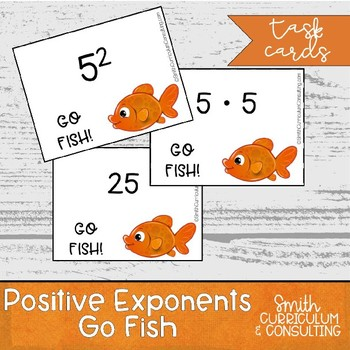 Exponents Go Fish- Winter Themed