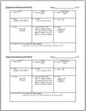 Exponents Homework