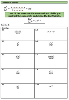 Exponents / Indices Module