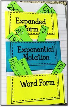 Exponents - Math Interactive Notebook