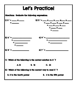 Exponents Introduction