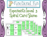 Exponents Level 3 Spiral Card Game