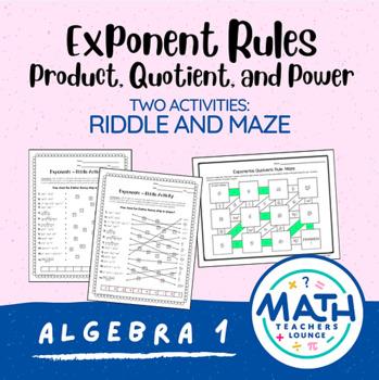 Exponents: Line Puzzle Activity