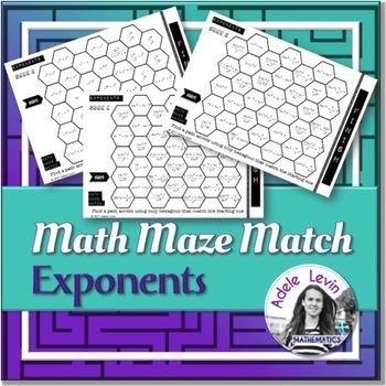 Exponents (MATH MAZE MATCH)
