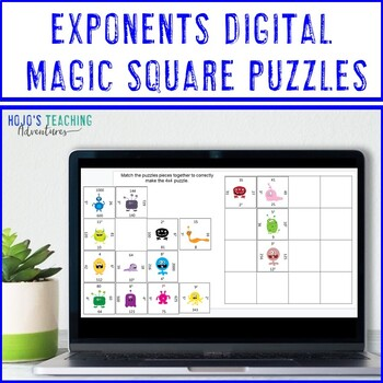 Exponents Math Center Game
