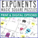 Exponents Worksheet Alternatives or Test Prep   NO PREP Digital Math Games