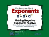 Exponents - Making Negative Exponents Positive