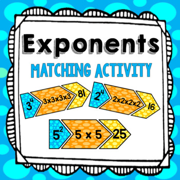 Exponents Matching Activity