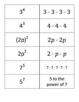 Exponents Matchup 2