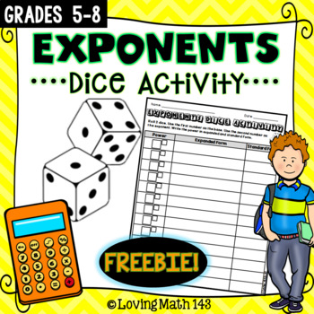 Exponents - Math Dice Activity