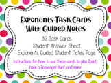 Exponents Math Task Cards
