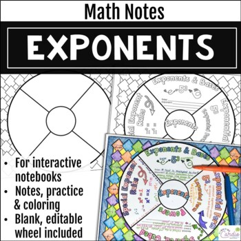 Exponents Math Wheel
