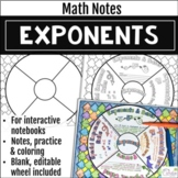 Exponents Math Wheel